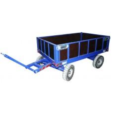 Большегрузная колёсная телега БТ 1 ЦБ с бортом (колеса D450 мм)