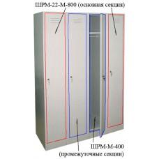 Промежуточная секция ШРМ-М-400 для модульного шкафа