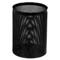 Урна (корзина для бумаги) 250 (низкая) перфор. черная