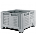Перфорированный контейнер IBOX 1200х1000х780 мм на 4-х ножках