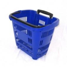 Корзина-тележка на 2-х колесах пластиковая 34 л. PBT34